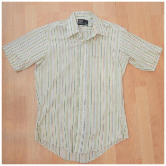 2e52984b Mens Vintage 70s Striped Spring Button Down Shirt.  M_5ac8de0c2ab8c5e485024f2b